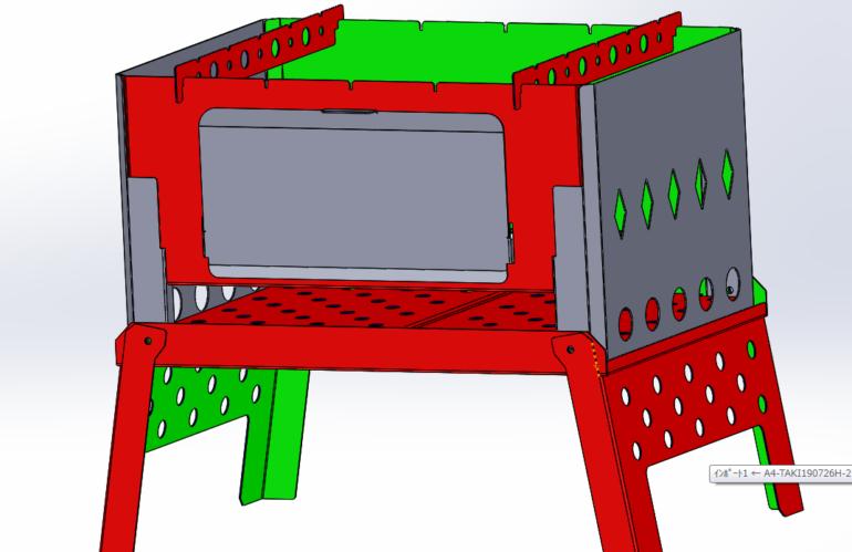 焚き火台3Dモデリングデータプレゼント!! Bonfire stand 3D modeling order gift! !